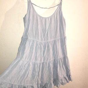 Brandy Melville light blue ruffle tunic